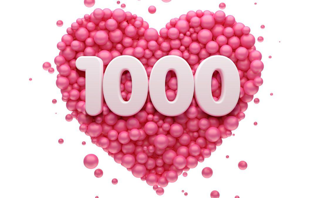1000 Abonnenten