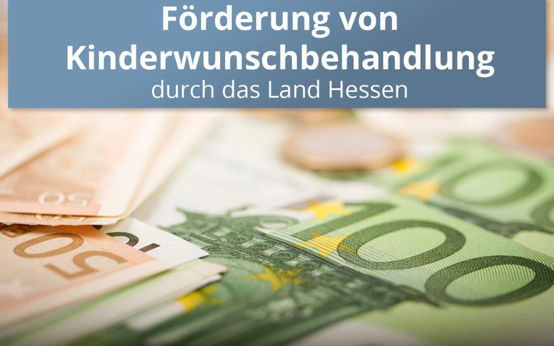 Förderung von Kinderwunschbehandlung durch das Land Hessen