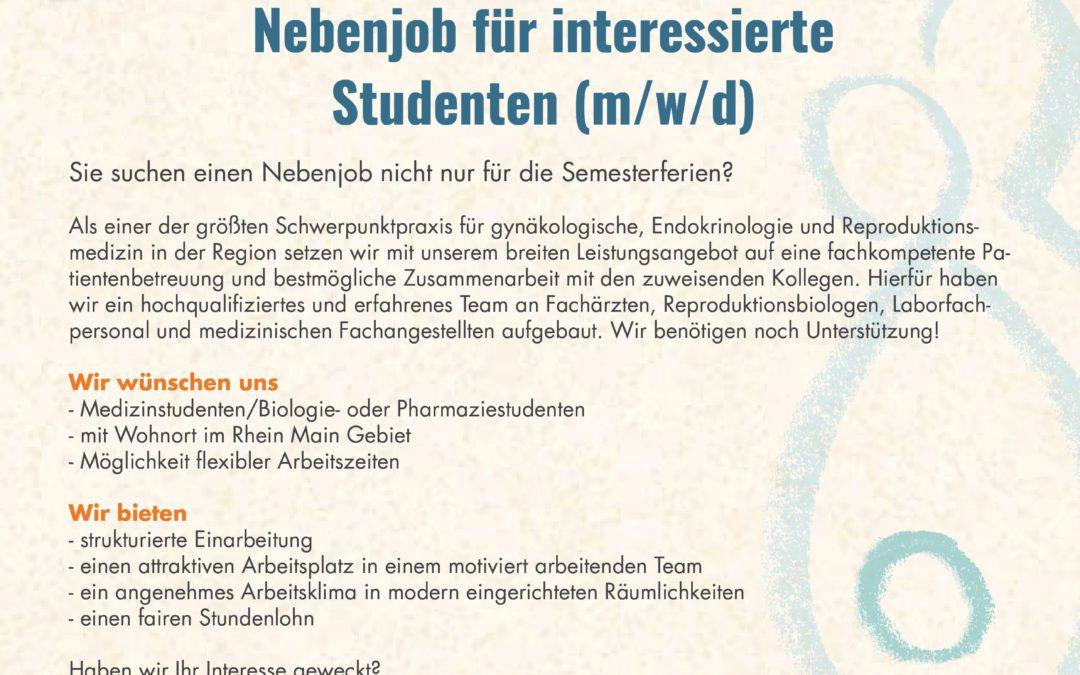 Nebenjob für Medizinstudenten/Biologie- oder Pharmaziestudenten